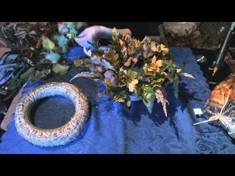 Herbstgesteck aus der Natur - YouTube