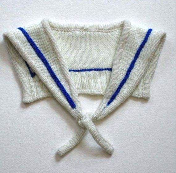 Col marin, tricot   Dressing baby and kids   Sailor collar, Sailor ... ec3c2c1a189