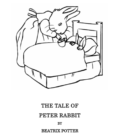 Easter Kids Craft Ideas: Peter Rabbit Coloring Pages | Peter rabbit ...