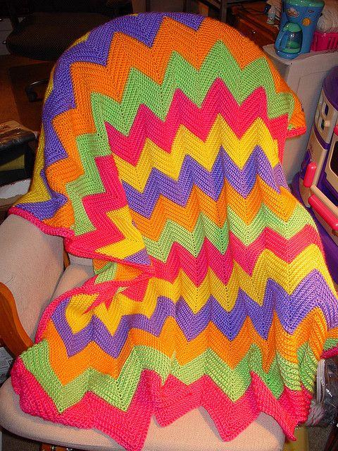 Ripple Afghan www.ravelry.com/... | Crochet | Pinterest