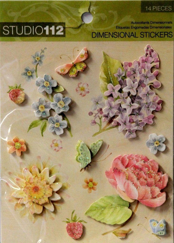 K & Company Studio 112 Sweet Flowers Dimensional Scrapbook ...