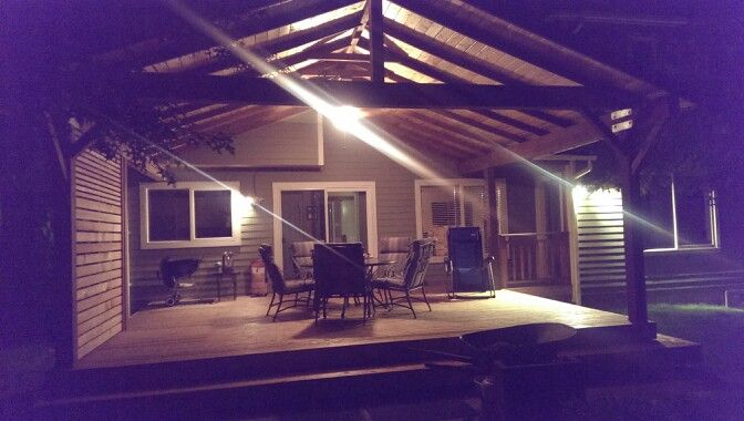 The rains last night validated why we decided to cover the deck. Looking forward to using the outdoord living room finally.