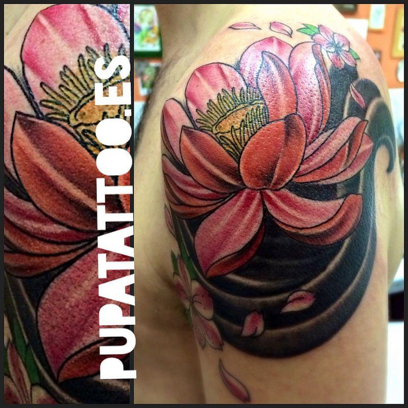 Tatuajes Flores Japonesas tatuaje flores japonesas pupa tattoo granada | tattoo | pinterest