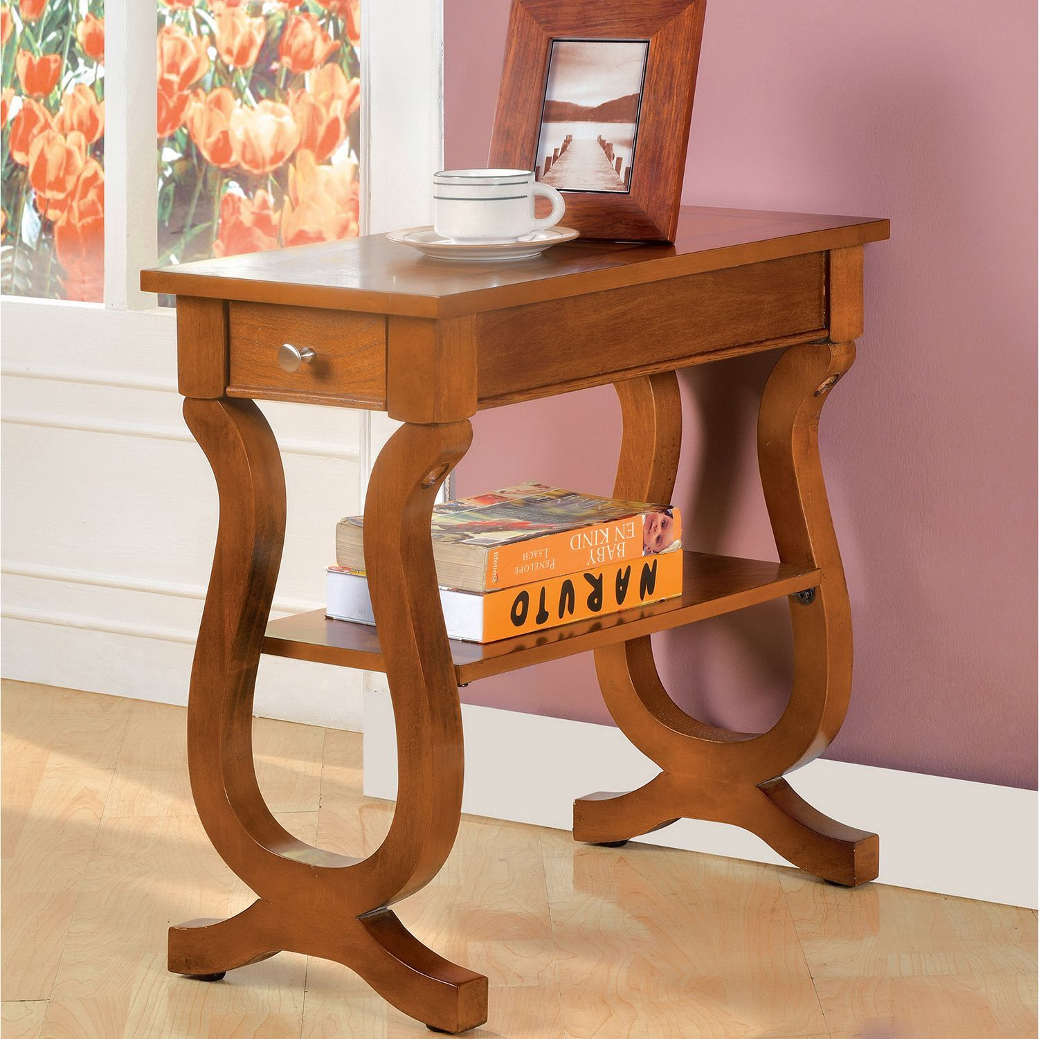 Furniture of America Antique Belton Side Table with Storage Drawer. Occasional Tables ... & Furniture of America Antique Oak Belton Side Table with Storage ...