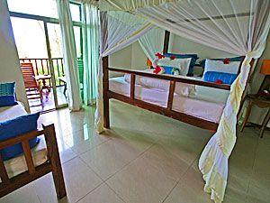 The Zanzibari Hotel: Spacious rooms with balcony and views -- http://adventureswithinreach.com/tanzania/zanzibar/lodging-details.php?name=The-Zanzibari-Hotel