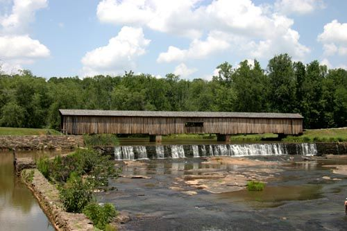 This bridge is located in the Watson Mill Bridge State Park. It is the longest covered bridge in Georgia.
