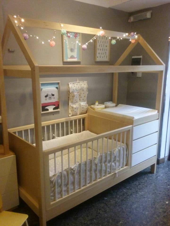 cuna funcional casita | Baby girl | Pinterest | Cunas funcionales ...
