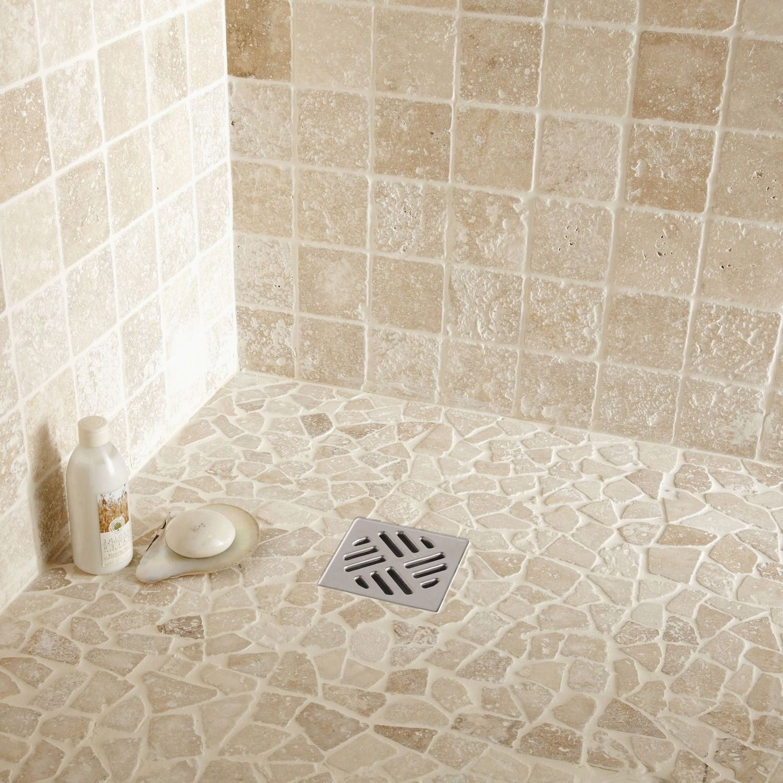 salle de bain travertin carrelage
