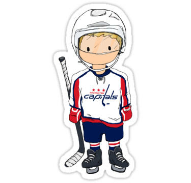 Mini Capitals Hockey Player Stickers By Charliecross Redbubble Capitals Hockey Hockey Players Hockey