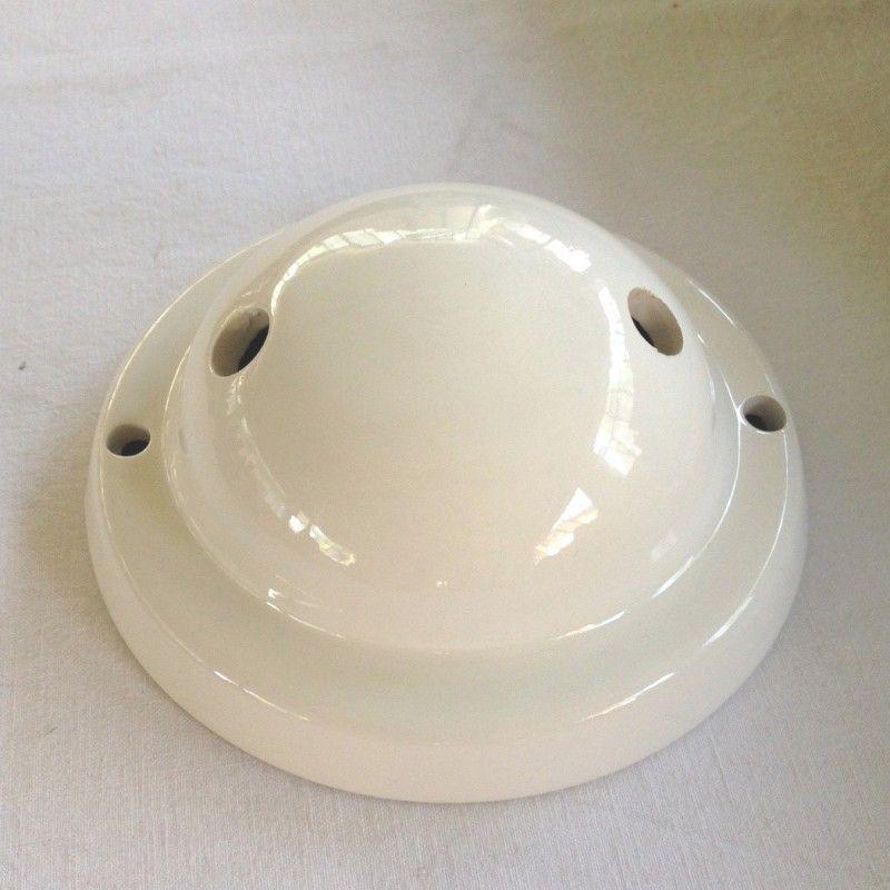 Rosace double sortie et fixation 130mm en céramique