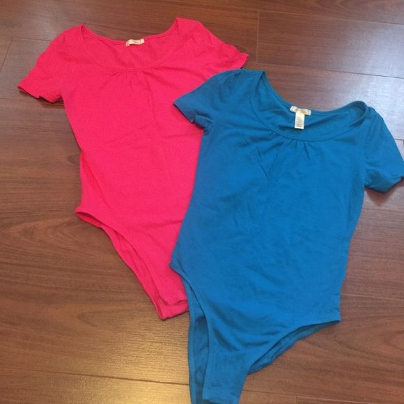 2 Urban Outfitters Bodysuits 2 Urban Outfitters Ambiance Apparel Bodysuits - Pink and Blue. With Snap closure bottoms. Both are size small and are in perfect condition! Urban Outfitters Tops