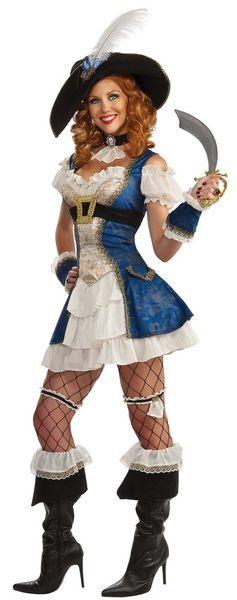 Piraatti Bonnie Deluxe asu standardikokoisena. Tämän tytön seilatessa kääntyilee merimiesten päät takuuvarmasti. #naamiaismaailma