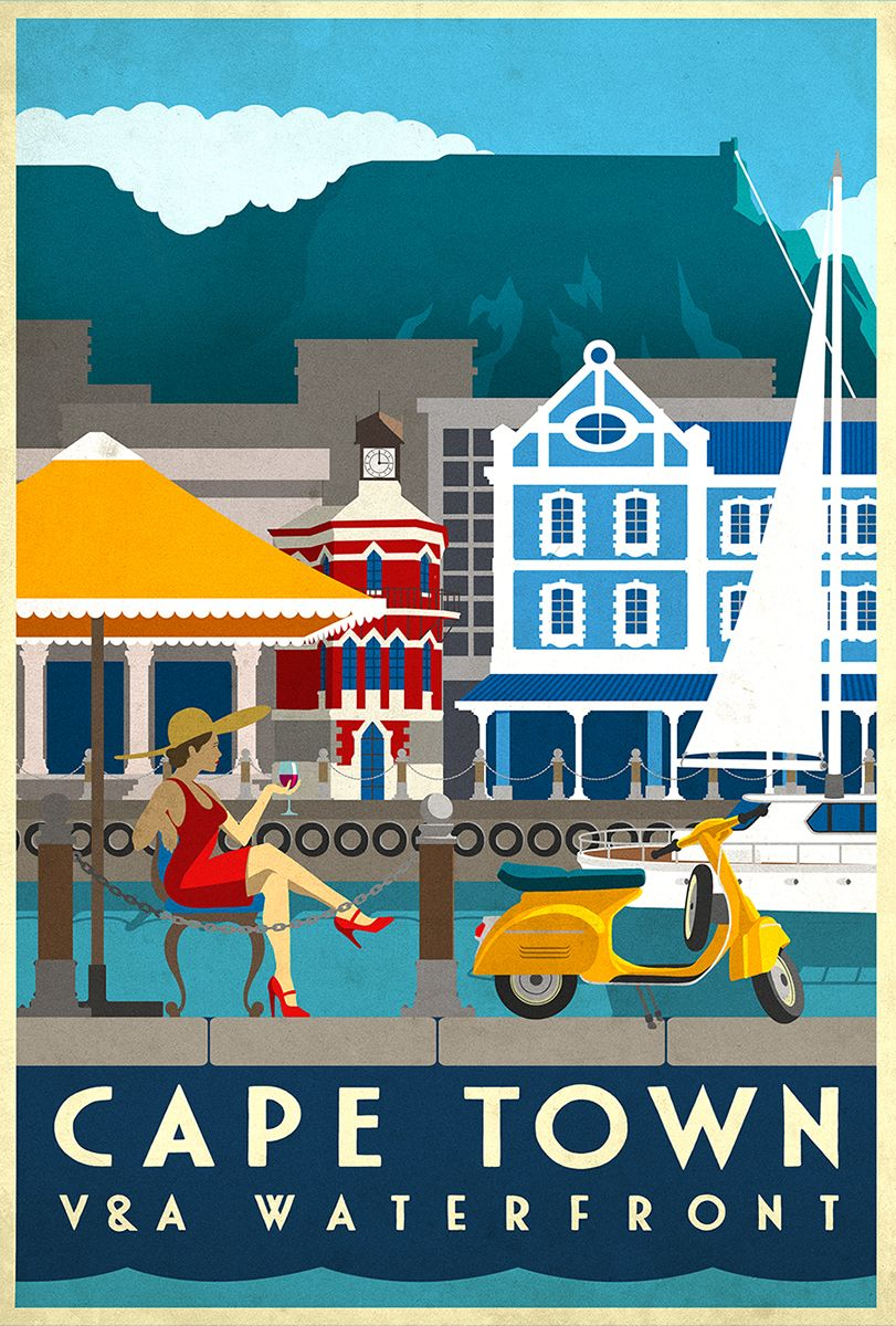 Vintage travel poster by Muti Vintage travel posters