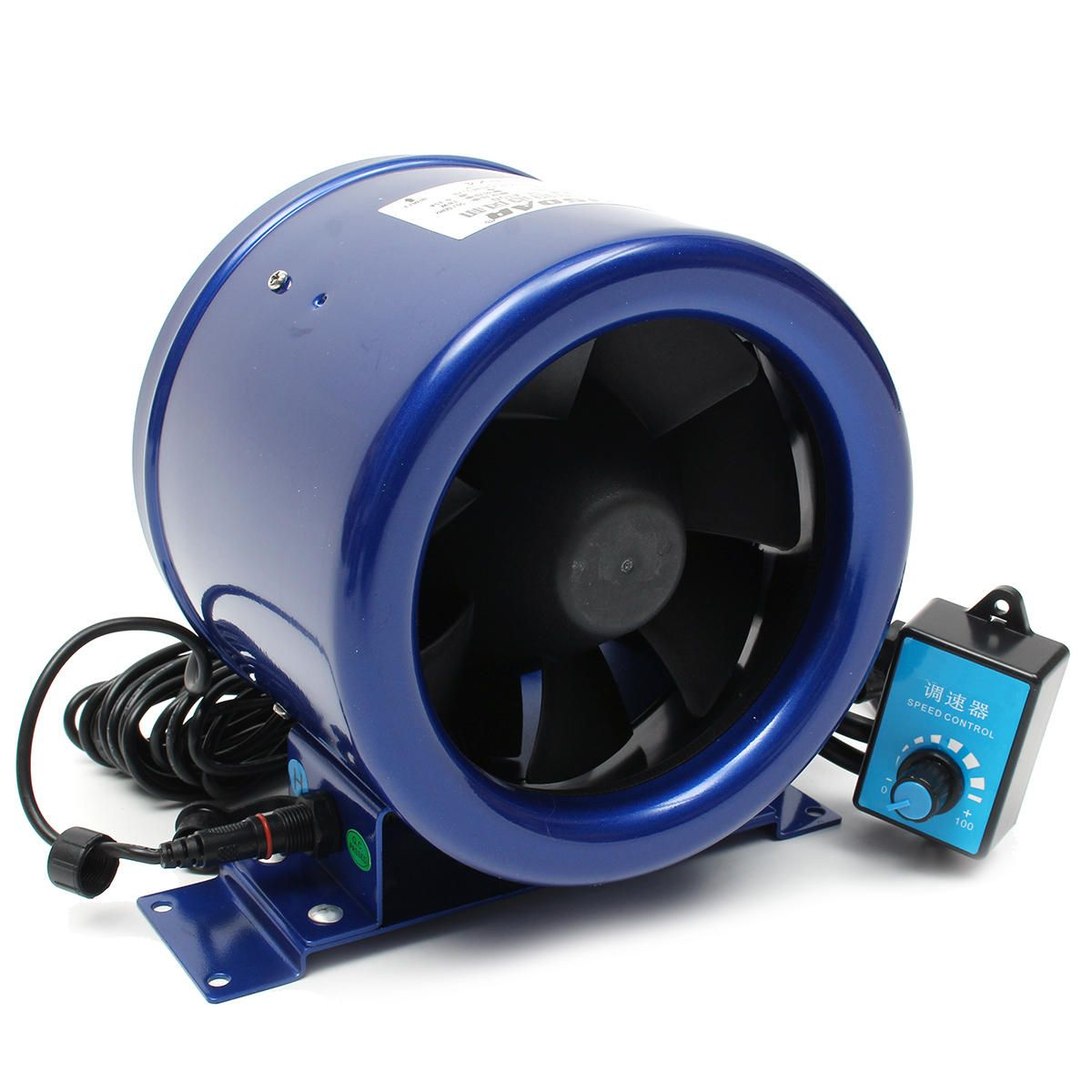 Us 98 43 6 Inch Inline Airflow Duct Fan With Speed Controller