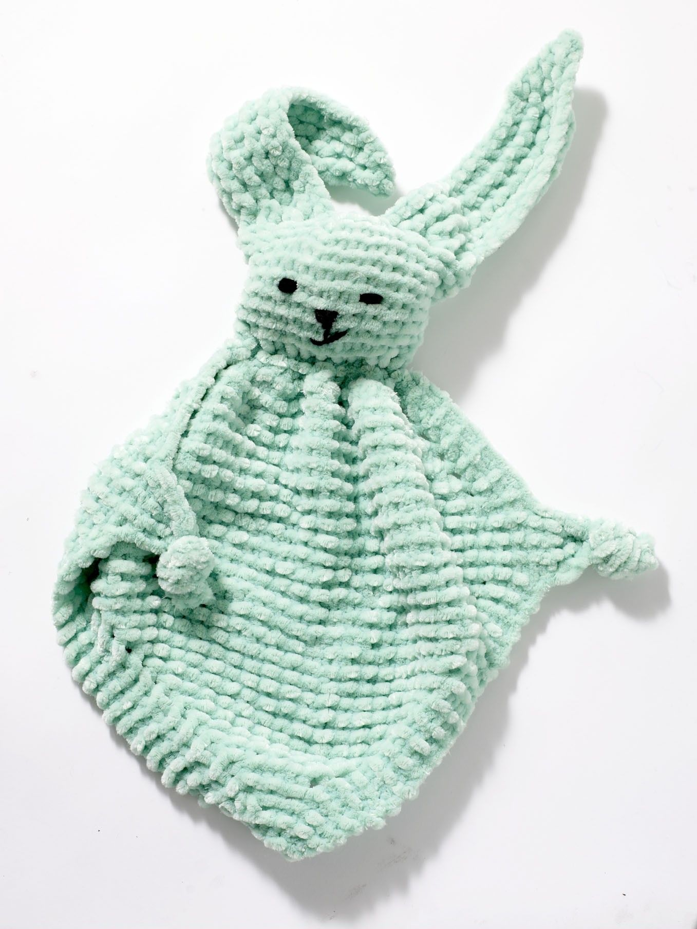 Bunny Blanket Buddy Pattern (Knit) Free download from Lion Brand ...