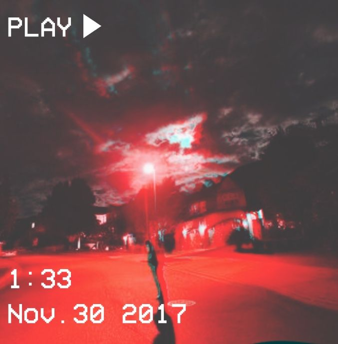 M O O N V E I N S 1 0 1 Vhs Red Demon Sky Sky Aesthetic Aesthetic Photography Aesthetic Pictures