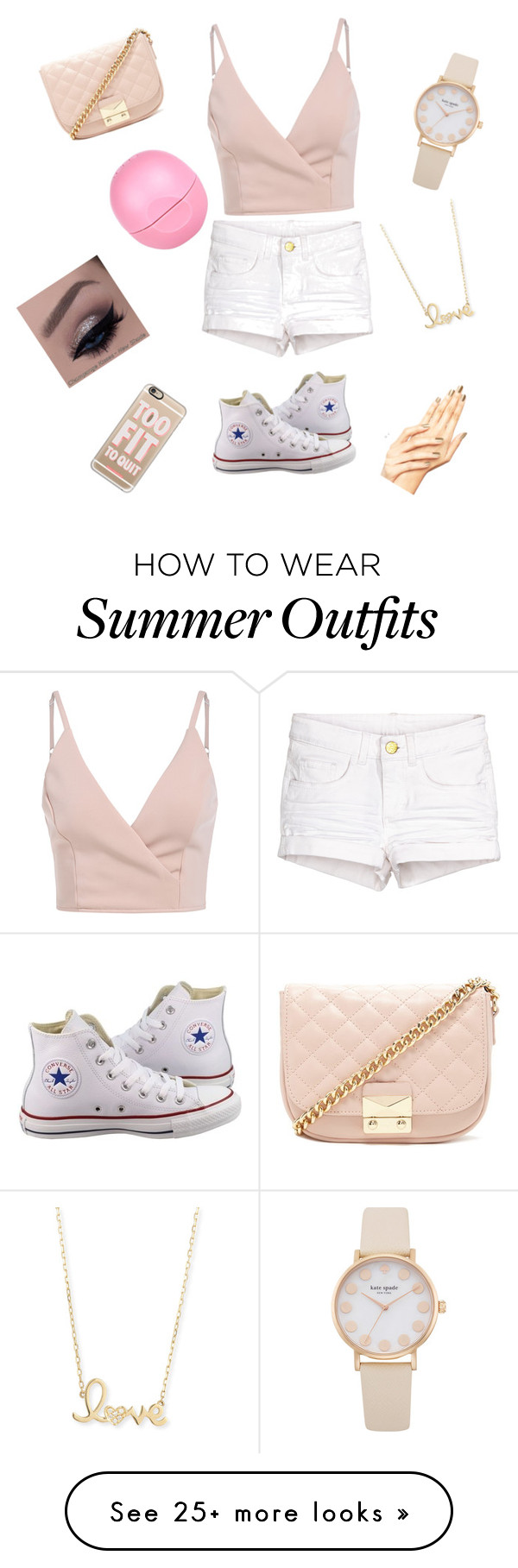 """Summer outfit"" by morganmcl on Polyvore featuring Converse, Forever 21, Sydney Evan, River Island and Casetify"