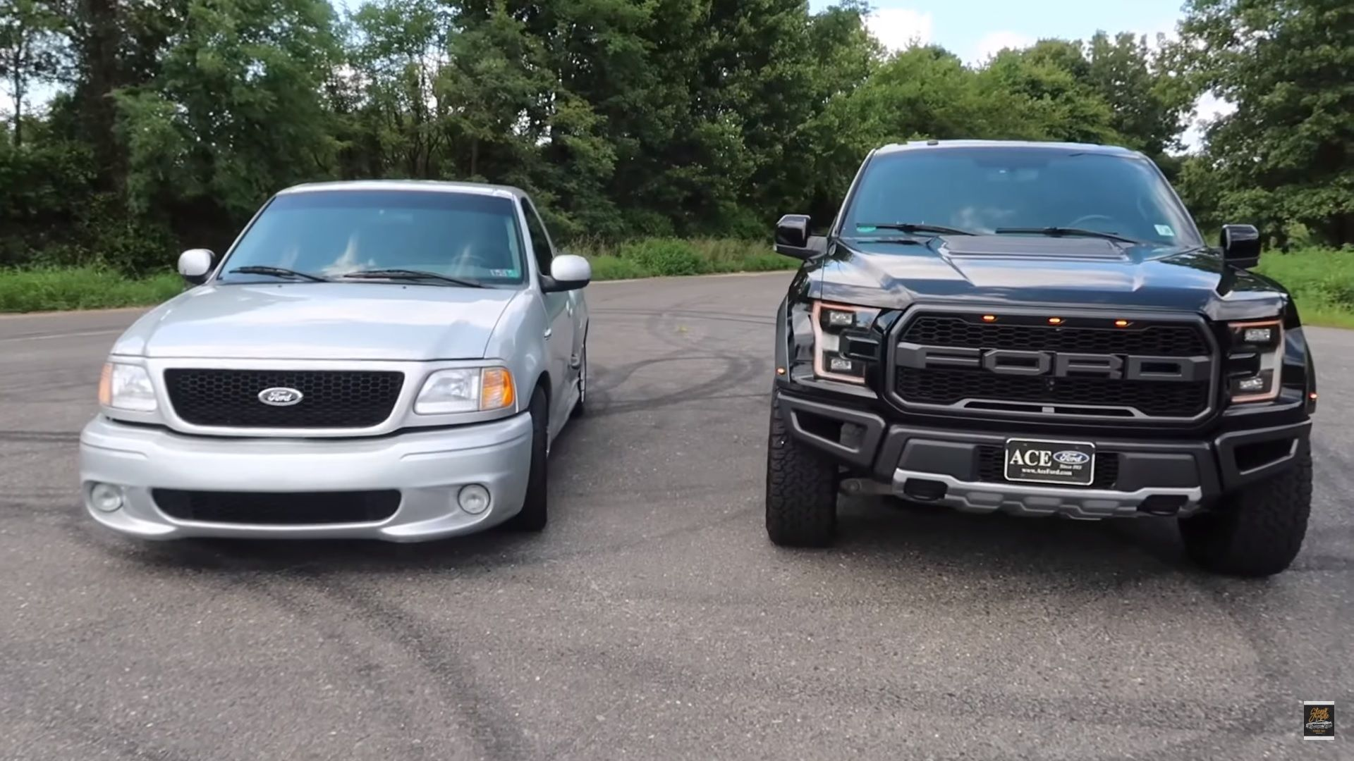 Watch The Ford F 150 Raptor Take On An Old School Ford Svt Lightning Top Speed Ford Svt Svt Lightning Ford F150
