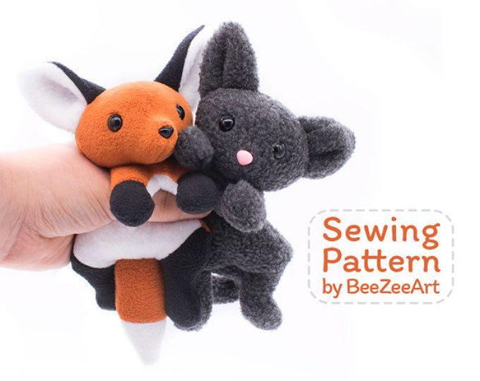 Fox And Cat Stuffed Animal Sewing Pattern Plush Toy Pattern PDF Amazing Best Sewing Machine For Plush Toys