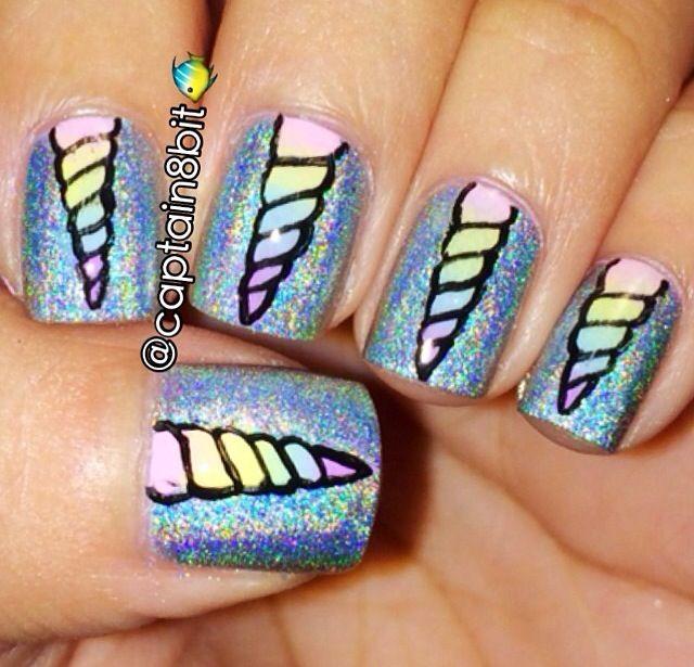 Unicorn horn nails