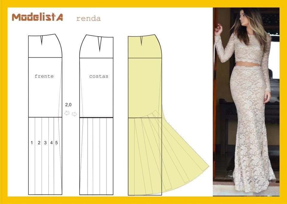 Long morticia skirt pattern - womens sewing pattern drafting ...