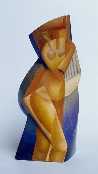 Alexander Archipenko. The Bather. 1919. Sculpto-Painting, or Polychromed Architectural Sculpture ●彡