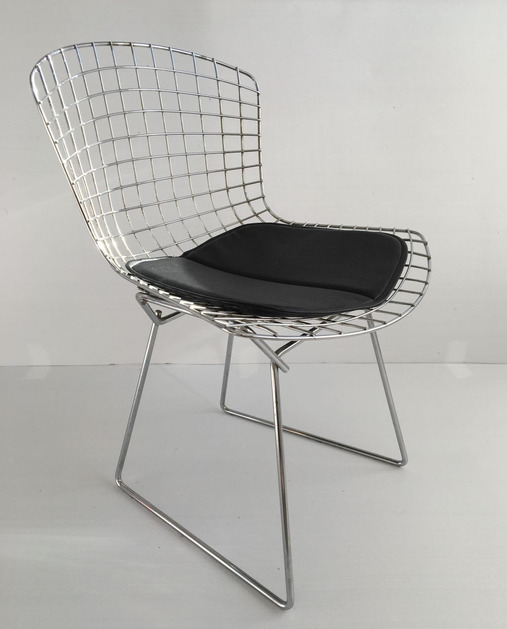 Chaise Bertoia Occasion For Sale Vintage Chrome Side Chair Seat Pad By Harry Bertoia