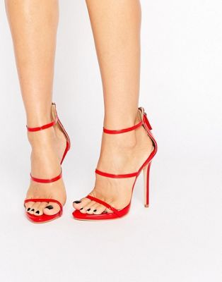 10ebd84b2b Public Desire Aisha Red Strappy Heeled Sandals | Shoes | Strappy ...