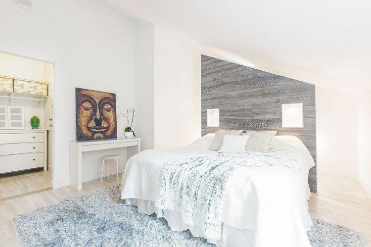 Graue tapete schlafzimmer for Tapete holzoptik schlafzimmer