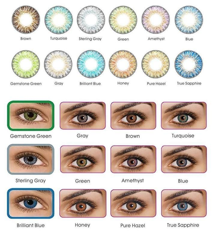 Freshlook ColorBlends Cosmetic Colored Contacts 12