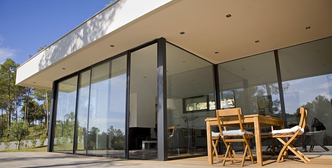 baie coulissante grande hauteur satin road baie vitr e pinterest baie coulissante baies. Black Bedroom Furniture Sets. Home Design Ideas