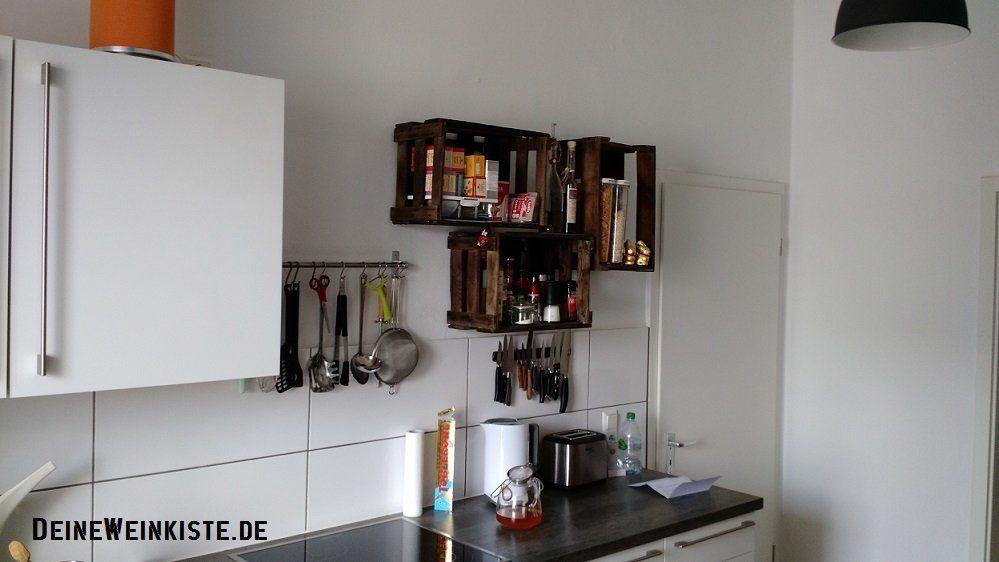 Kuchenregal Aus Weinkisten Mit Anti Holzwurm Warmebehandlung An