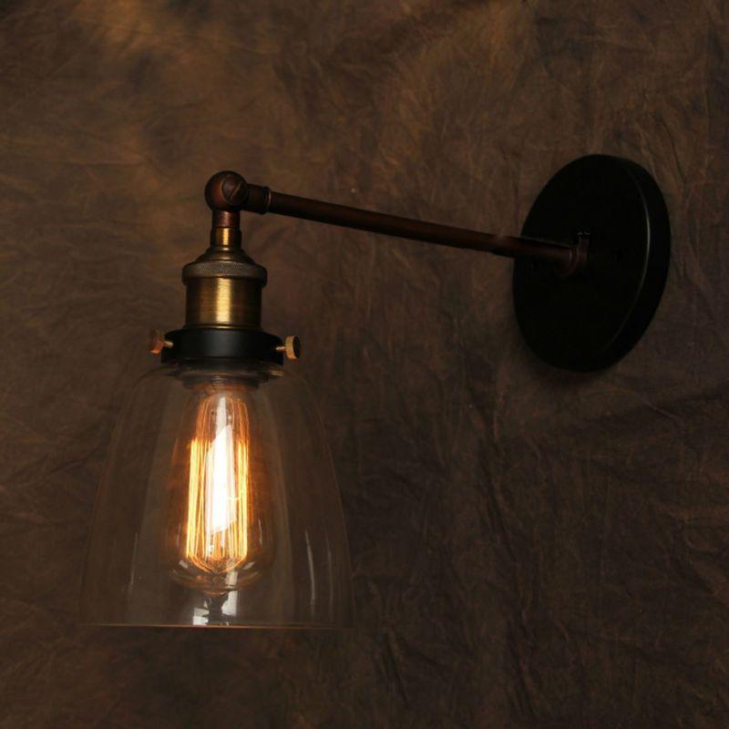 Vintage Wall Lamp American Style Industrial Edison Lamps Beside Mounted Glass Art Deco Rh Loft Lighting For Coff Vintage Pendant Lighting Wall Lamp Edison Lamp