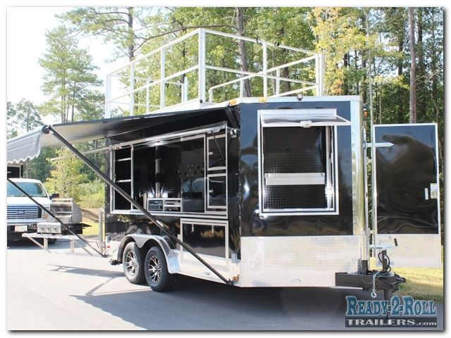 8x14 Tailgating Trailer W 10 Foot Roof Deck Tailgating Trailers Custom Trailers Trailers For Sale