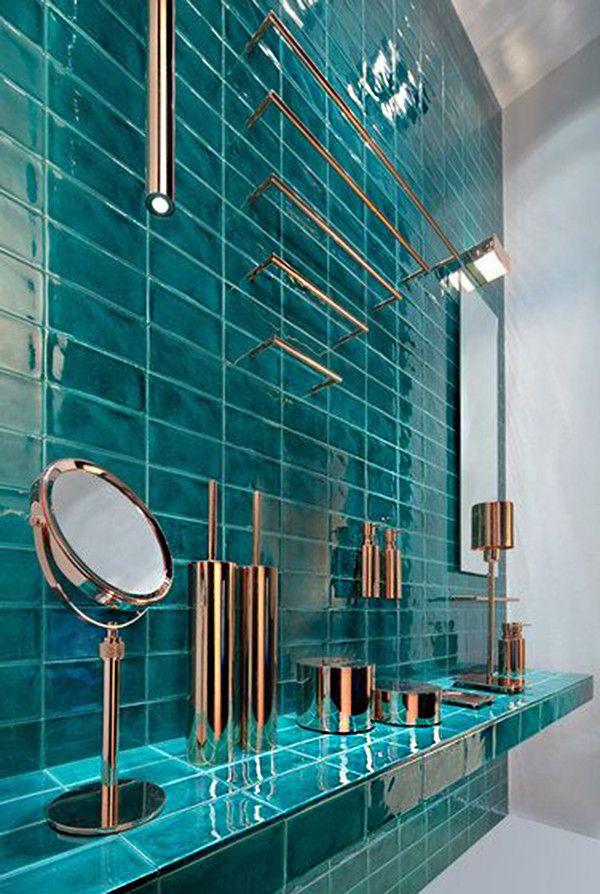 17 ideas para decorar el baño con color turquesa | Diseños ...
