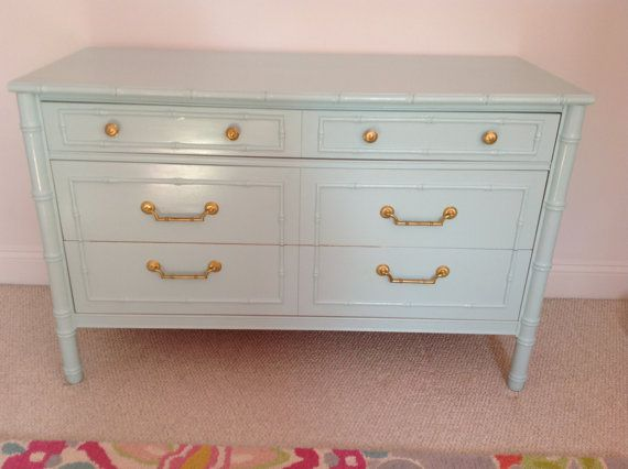 Custom Painted Faux Bamboo Dresser  by MaeDecemberModern on Etsy, $850.00