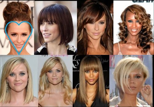 Best Hairstyles for Your Face Shape - Heart | Heart shaped face ...