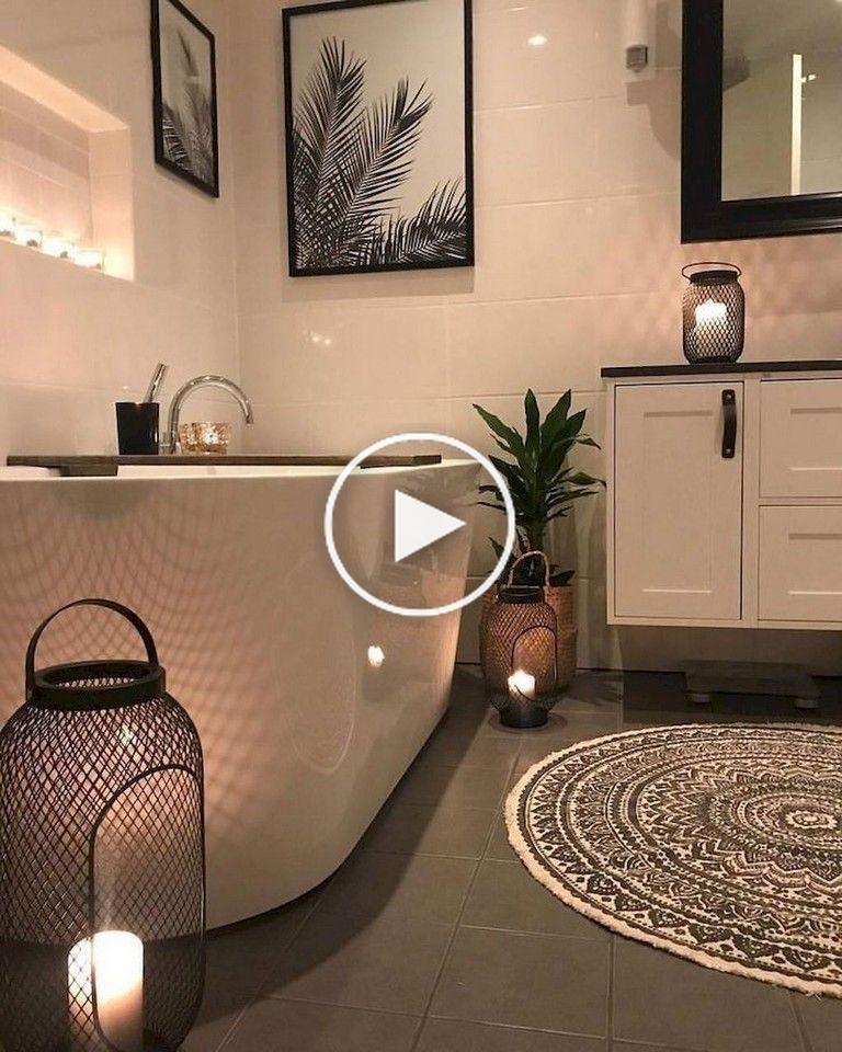 80+ Kleine Luxus-Badezimmerdekorationsideen # ...