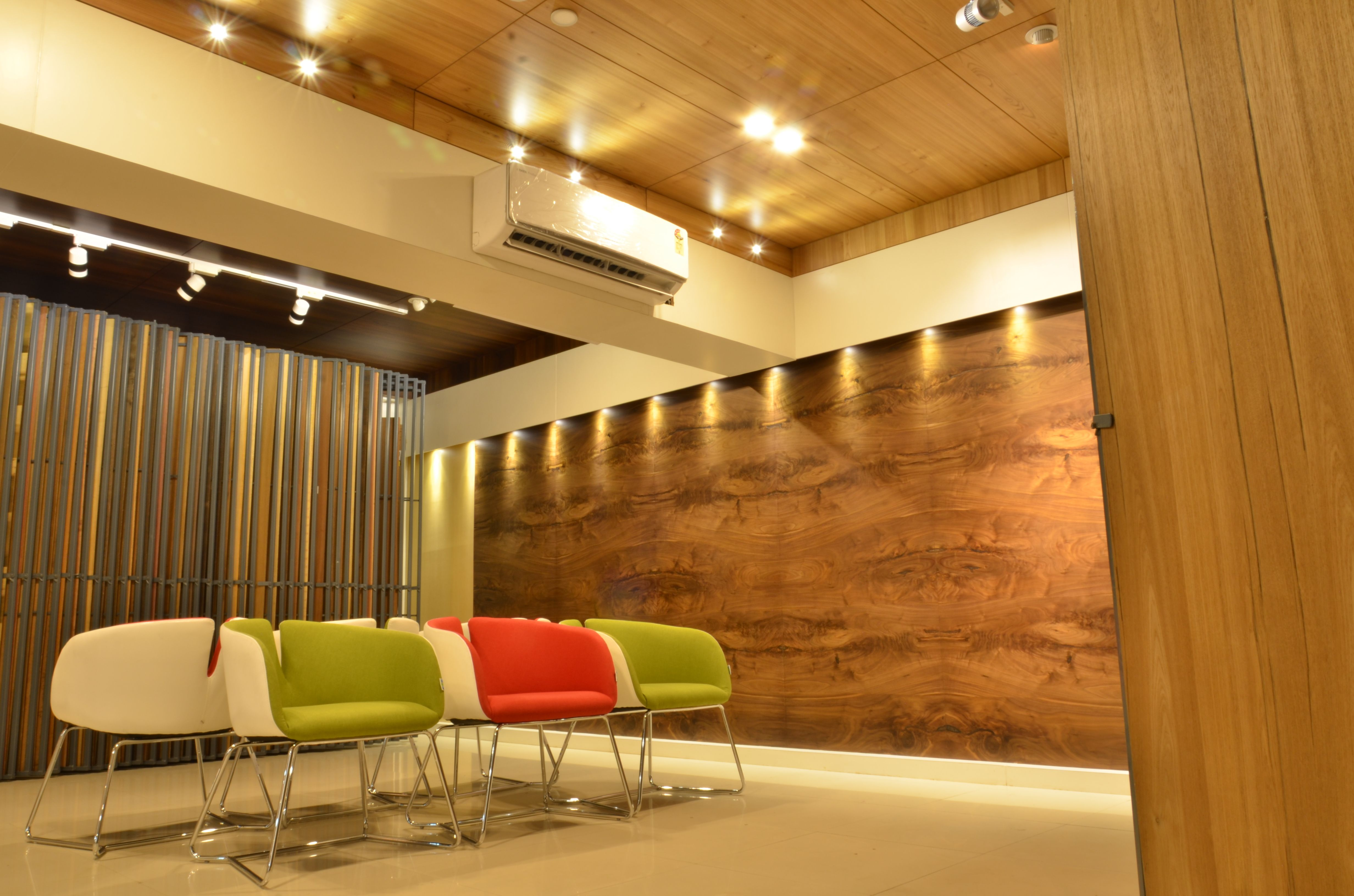 Selection Area in Plywood & Veneer Showroom. A classic modern design ...