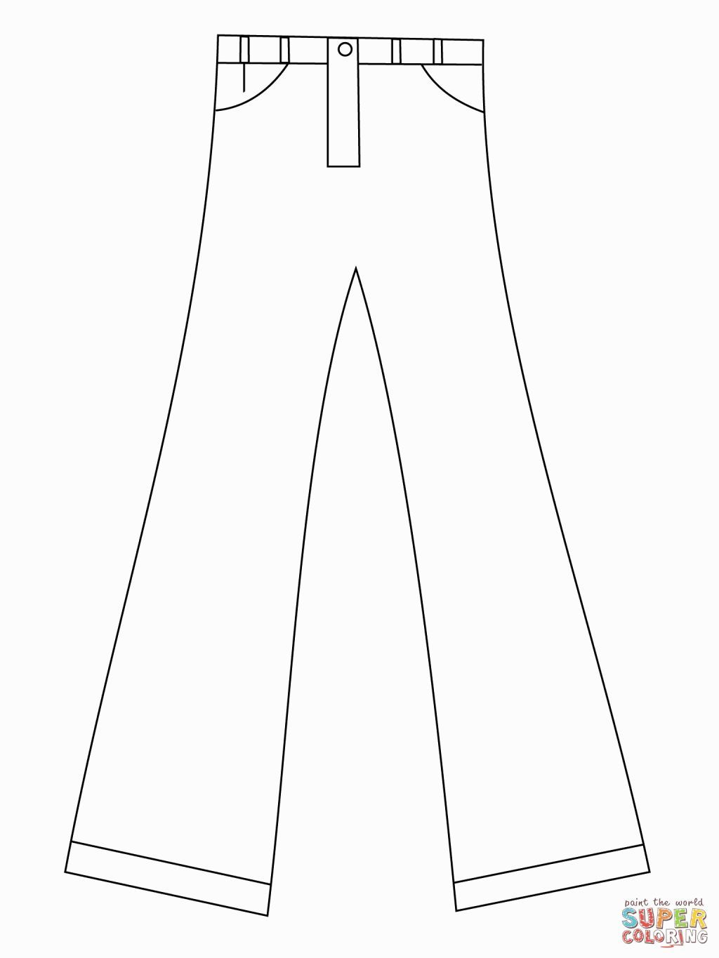 Pants Coloring Page Coloring Pages Free Printable Coloring