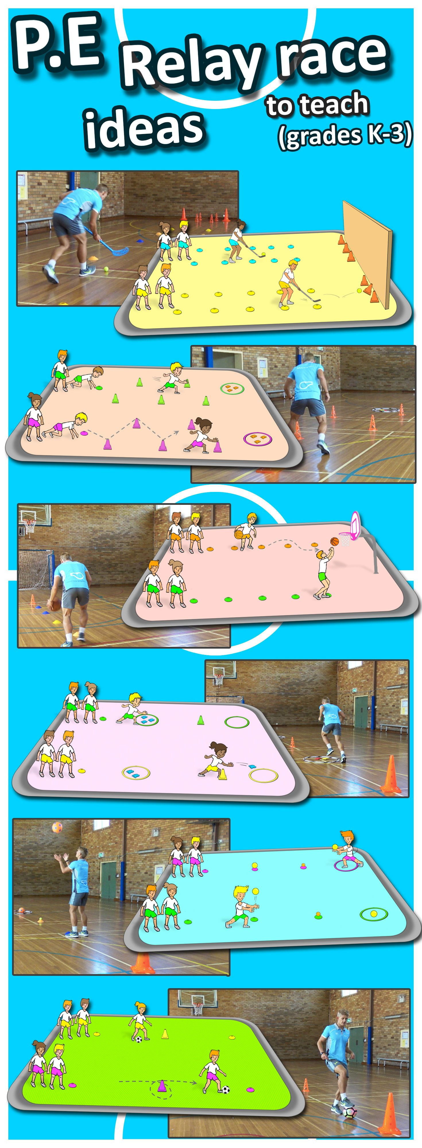 Try Some Awesome Pe Teaching Ideas With These Relay Race Activities Great For Grade K 3