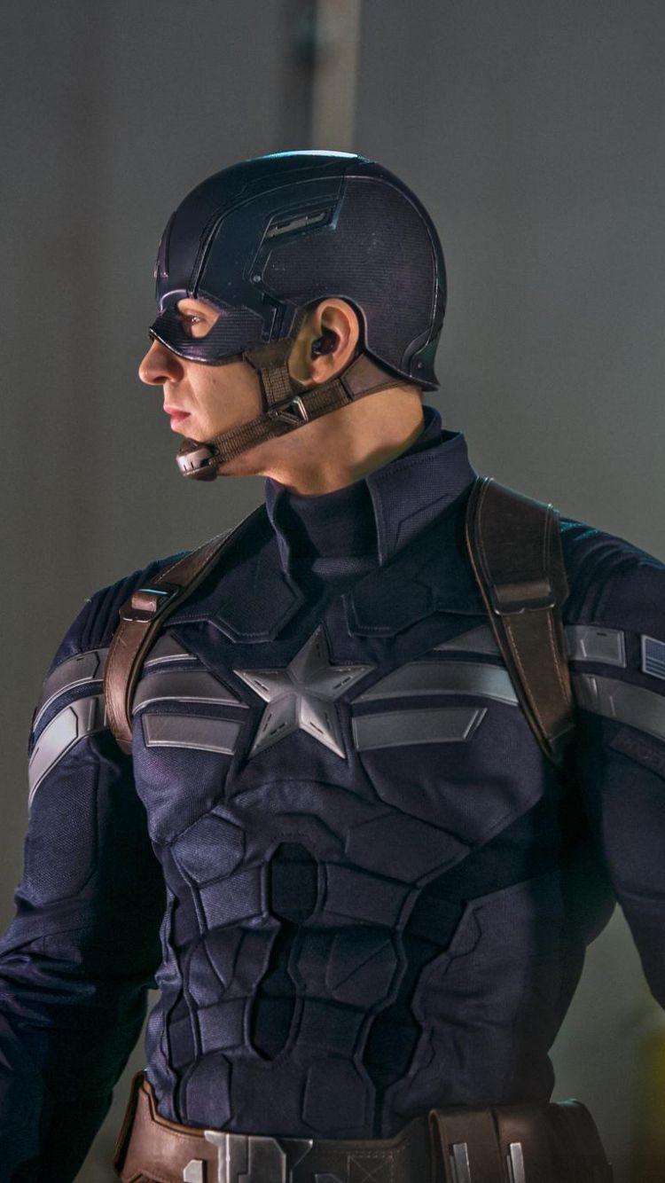 Download Wallpaper 750x1334 Captain America The Winter Soldier Steve Rogers Chris Evans