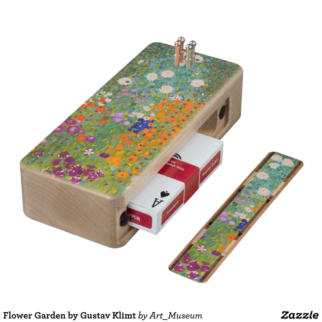 Flower Garden By Gustav Klimt Cribbage Board Zazzle Com Gustav Klimt Klimt Cribbage Board