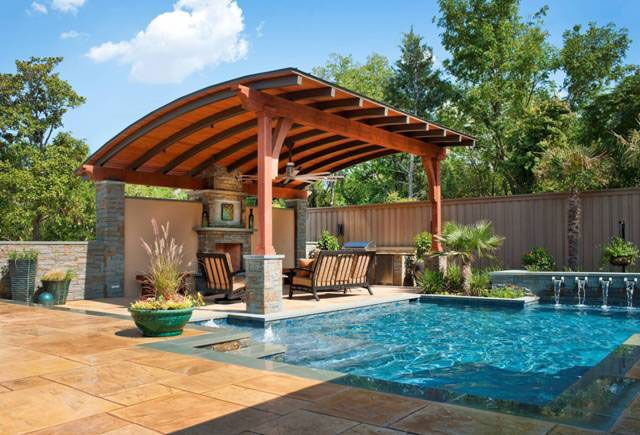 Outdoor Seating And Fireplace Covered Patios Pergolas