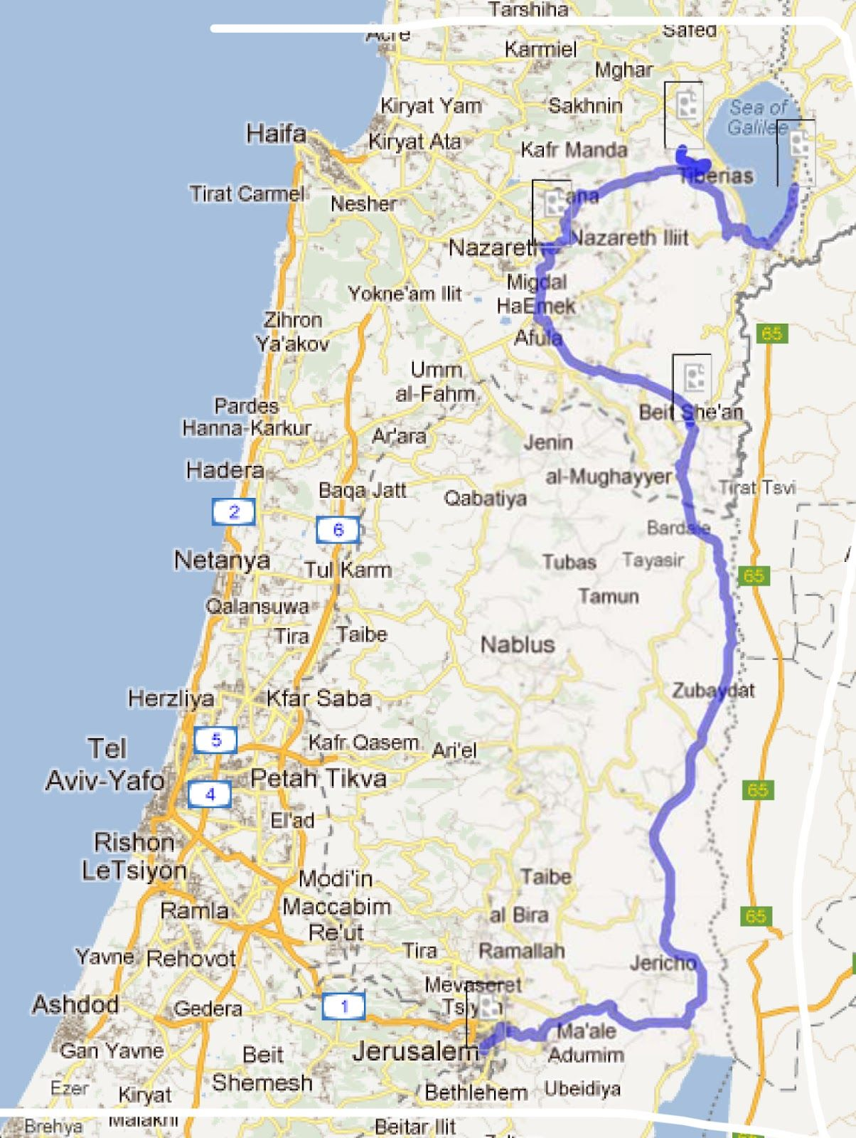 routes from Nazareth to Jerusalem Yahoo Image Search Results