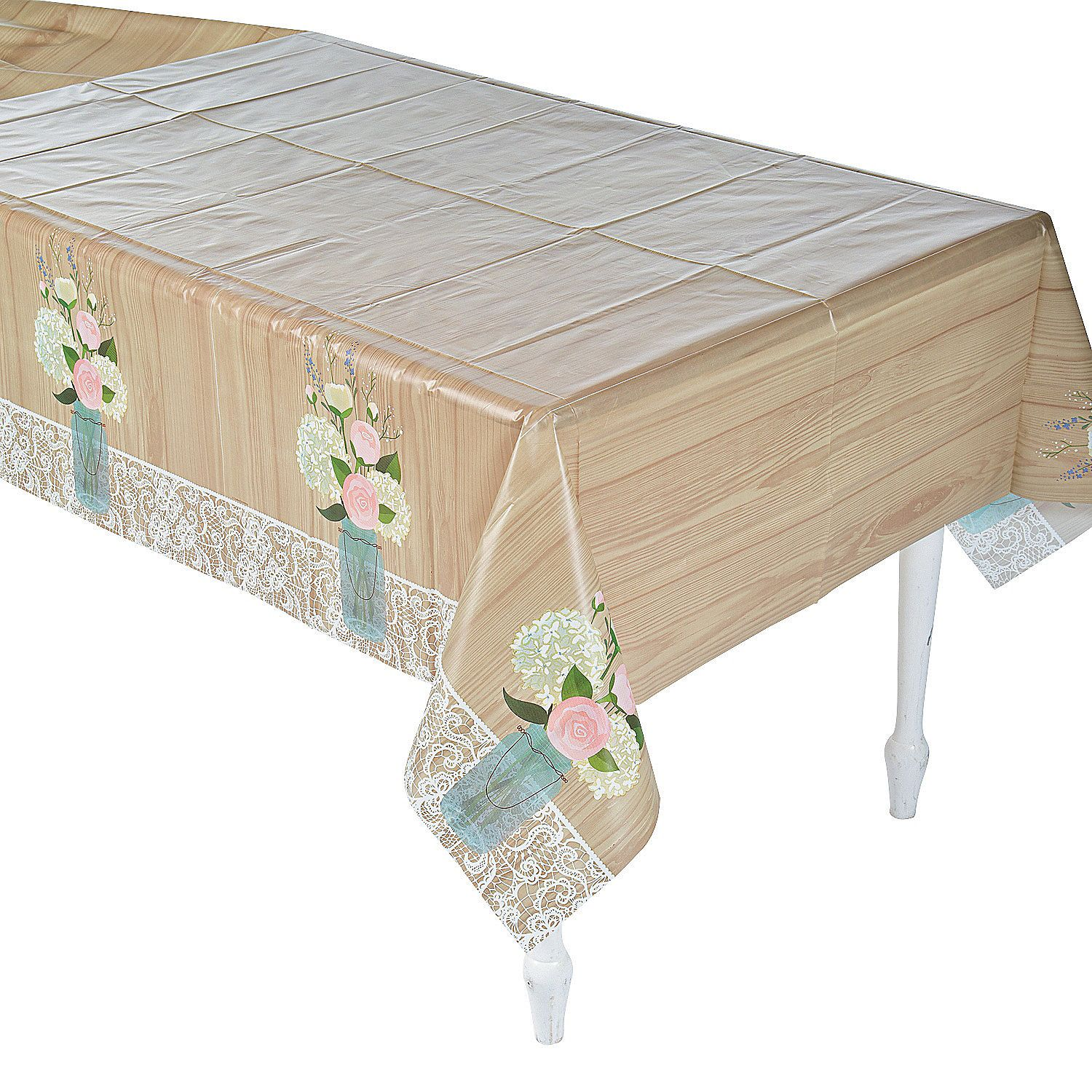 Rustic Wedding Plastic Tablecloth Oriental Trading Wedding