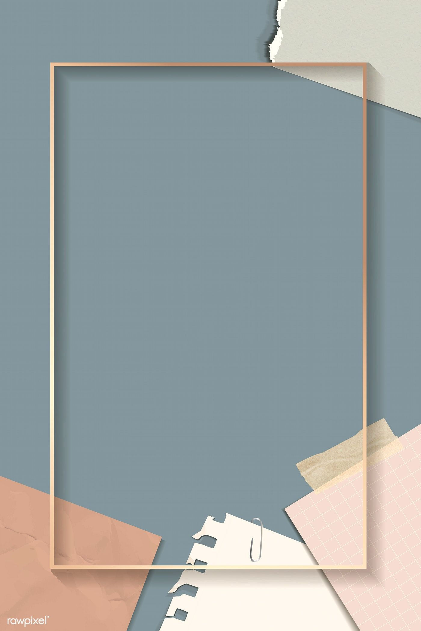 Download premium illustration of Ripped notes rectangle