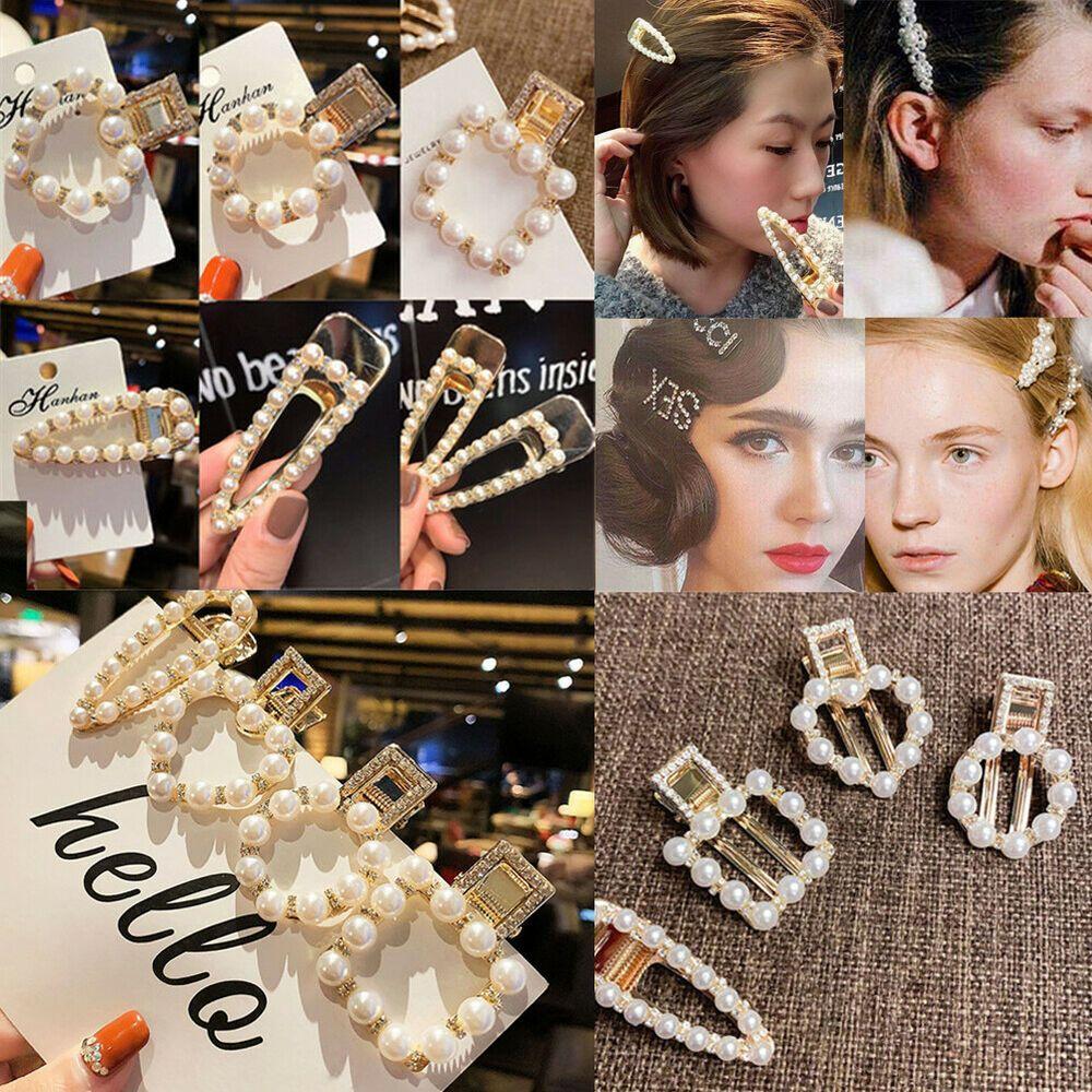 Fashion Women Crystal Rhinestone Words Hairpin Hair Barrette Hair Clips Headwear