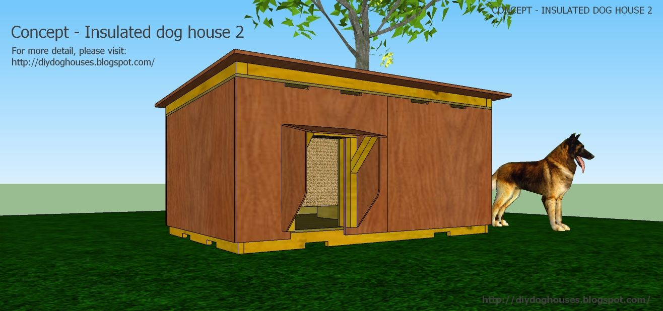 homemade dog kennels 2. Dog House Plans: Concept - Insulated 2 Homemade Kennels P