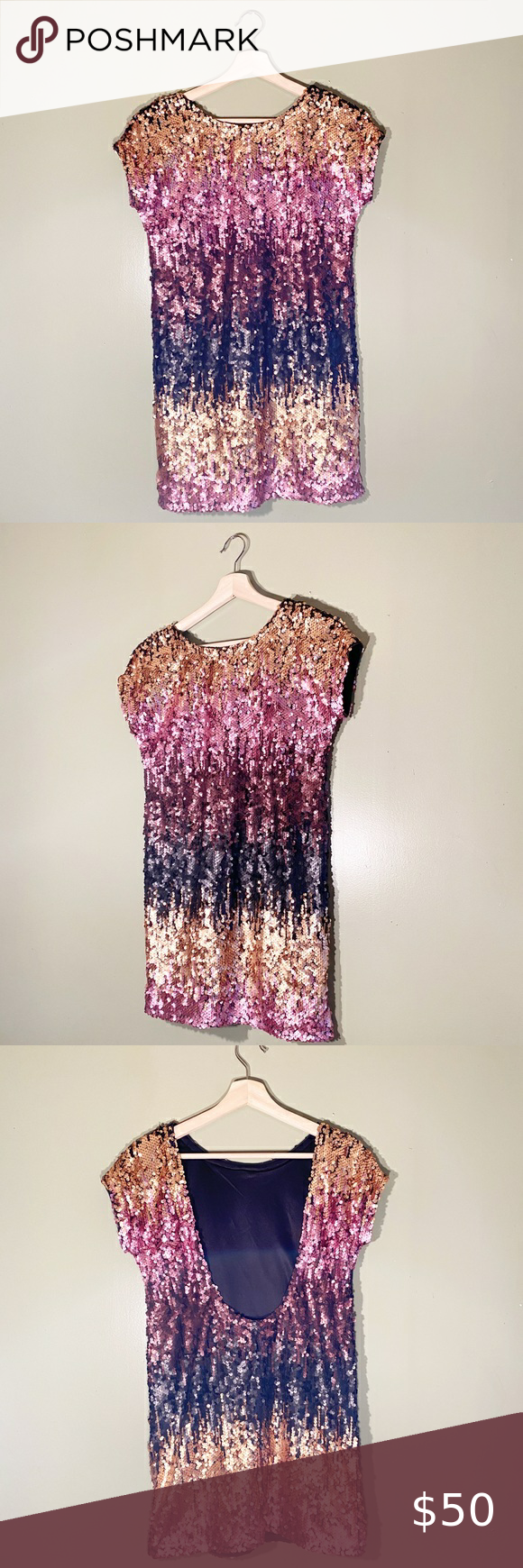 TOBI MULTI SEQUIN SHIFT DRESS Women's TOBI Pink & Black Sequin Shift Dress  Size: XS  Length: 31in, Pit: 18in In excellent condition!  Comes from a smoke free environment   K0227  Tags: sequin, shift dress, mini dress, classy, chic, summer, spring, sassy, sexy, shiny, Party, date night, Tobi Tobi Dresses Mini